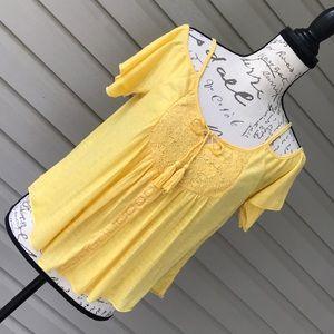 America Rag Cie Yellow Boho Shirt